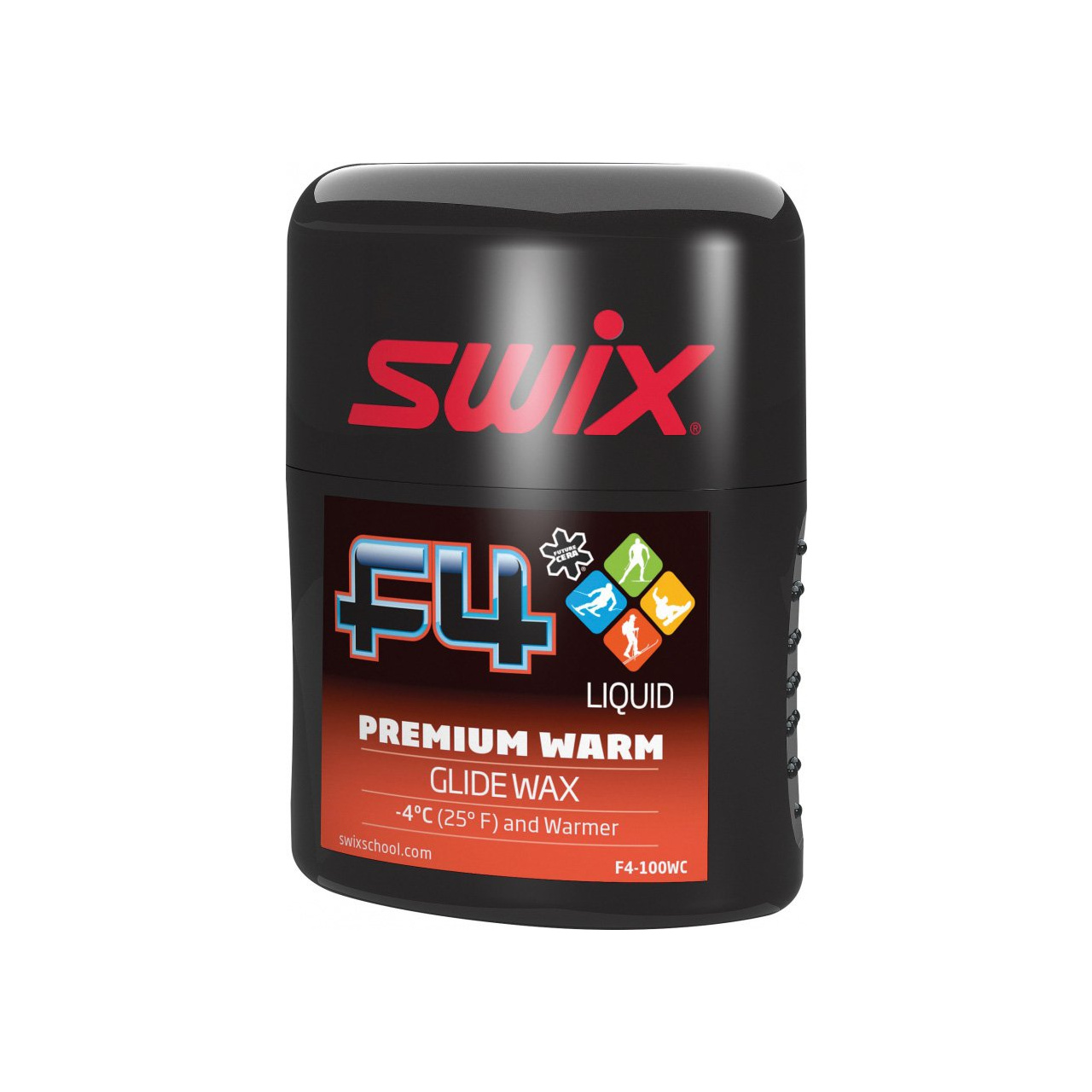 Swix Glide Wax F4 Premium Warm 100 Ml